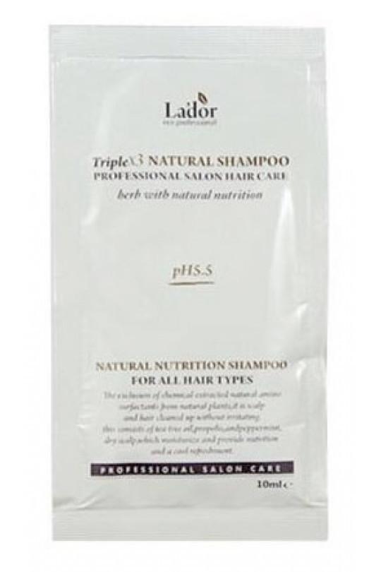 Безсульфатный органический шампунь Lador TripleX 3 Natural Shampoo Пробник-Саше
