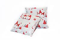 Новогодняя подушка декоративная Гномы 45*45 см