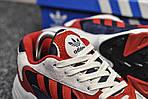 Мужские кроссовки Adidas Yung (бело-красные), фото 3