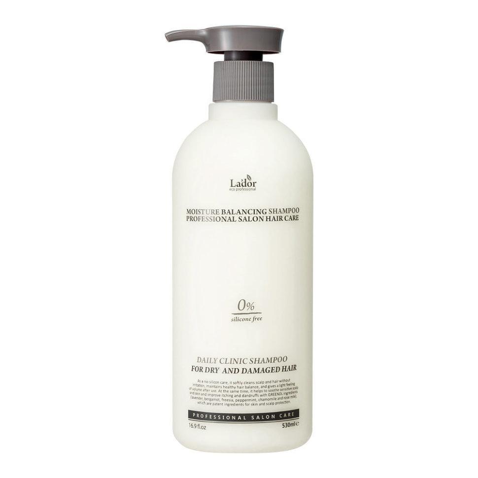Зволожуючий шампунь без силіконів Lador moisture balancing shampoo 530 мл