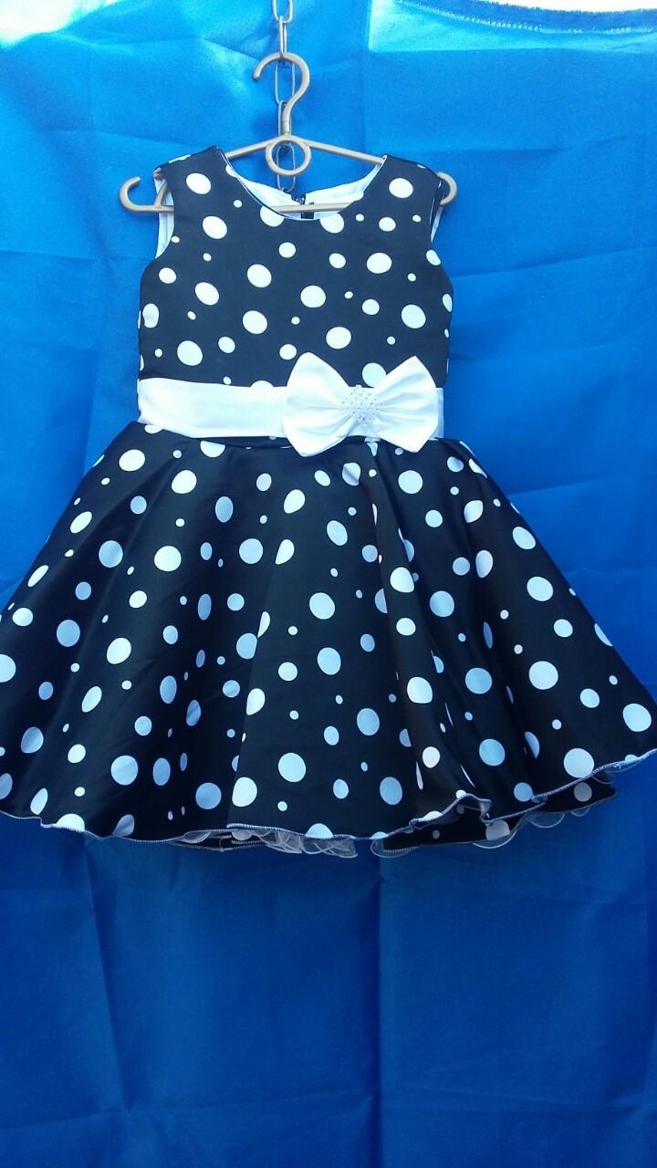 Детское платье бальное для девочки  в горох р. 5-6 лет опт