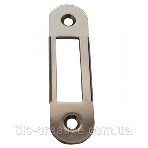 AGB ответная планка ровная под дверь с четвертью Mediana Evolution никель B.01000.40.06