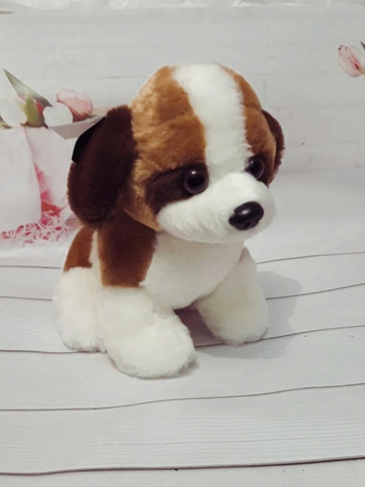 Мягкая игрушка Собачка сенбернар 30см