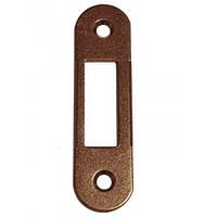 AGB ответная планка ровная под дверь с четвертью Mediana Evolution коричневая бронза B.01000.40.22