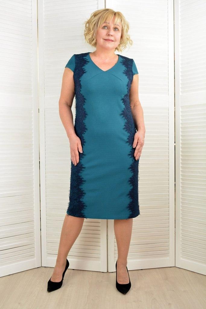 Платье бутылка с кружевом - Модель Л574 ( 50,52 размеры )