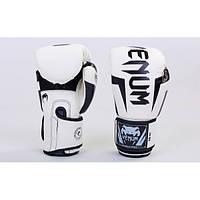 Перчатки боксерские PU на липучке VENUM (BO-5698) 8 унций Белый