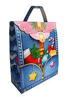 Синій Портфель новорічна упаковка для цукерок