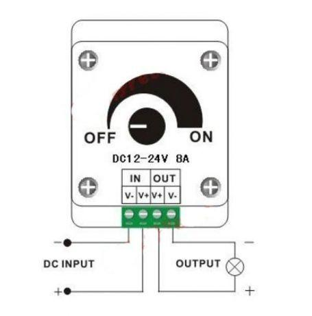 Диммер для светодиодных лент - регулятор яркости led ламп 12-24В