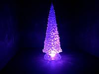 Светильник хамелеон / ночник  с цветной подсветкой Елочка 30 см.