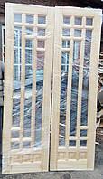Двери двойные деревянные из дерева