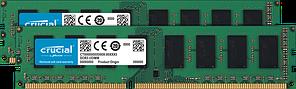 Оперативна пам'ять Crucial 16GB Kit (2 x 8GB) DDR3L-1600 UDIMM (CT2K102464BD160B)