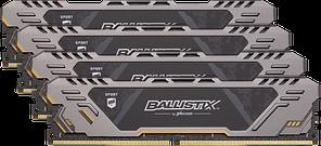 Оперативна пам'ять CRUCIAL Ballistix Sport AT 32GB Kit(4x8GB)DDR4-2666 UDIMM (BLS4K8G4D26BFSTK)
