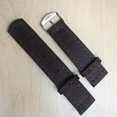 Кожаный ремешок коричневый