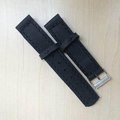Кожаный ремешок черный