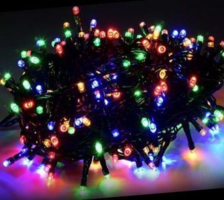 Гирлянда новогодняя Нить 100 LED мультик, черный провод