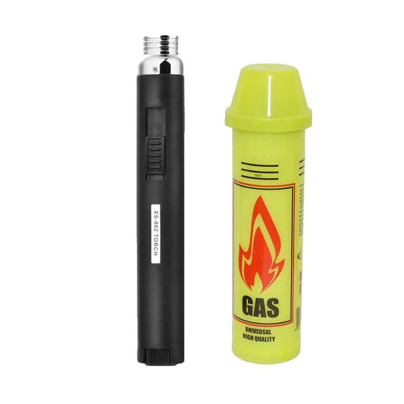 Ручная газовая мини горелка с баллончиком Honest (GG-16854)