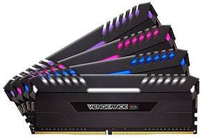 Оперативна пам'ять Corsair Vengeance RGB, 64ГБ(4х16ГБ),DDR4,3600МГц,C18,XMP 2.0 (CMR64GX4M4K3600C18)