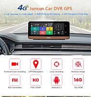 Видеорегистратор навигатор Phisung E 03, GPS, регистратор, камера заднего вида 4 G, Car Assist
