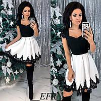 Платье / костюмная ткань, кружево / Украина 50-483
