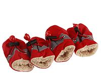 РАСПРОДАЖА! Ботинки для собак утепленные красные
