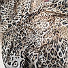 Ткань шифон принт леопард brown, фото 2