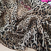 Ткань шифон принт леопард brown, фото 3