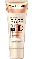 База под макияж Eveline Cosmetics Сияющая матовая 4в1 Base Full HD