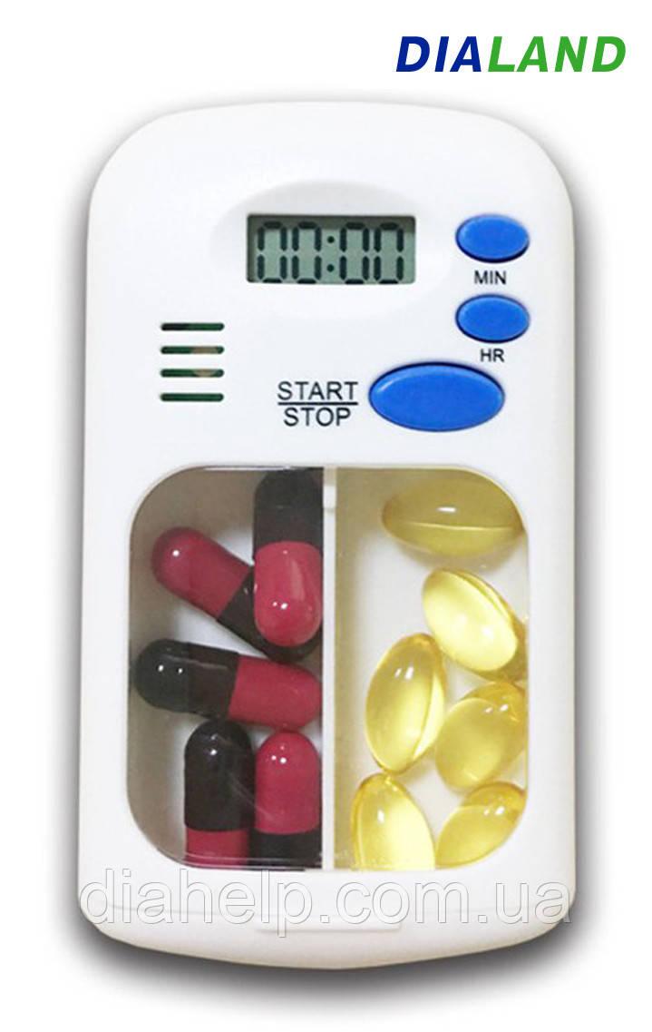 Таблетница PILL BOX (органайзер для таблеток) с ТАЙМЕРОМ