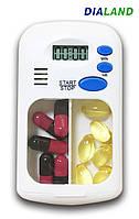 Таблетница PILL BOX (органайзер для таблеток) с ТАЙМЕРОМ, фото 1