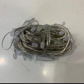 Гирлянда новогодняя Нить 100 LED белая 8S, прозрачный провод 10 м