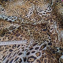 Ткань шифон принт леопард, фото 3