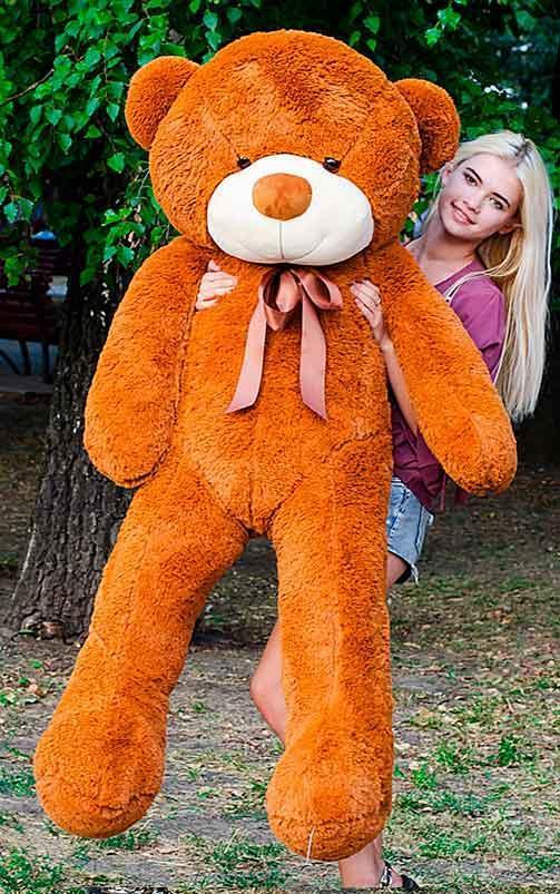 Плюшевый Мишка 180см. Большой Мишка Ромео игрушка Плюшевый медведь Мягкие мишки игрушки Ведмедик (Коричневый)