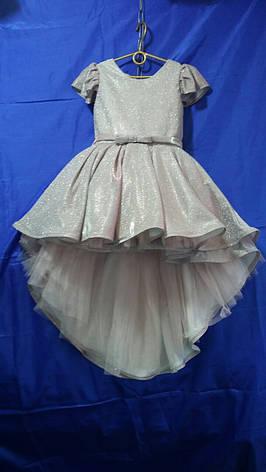 Платье со шлейфом для девочки Люрикс р. 6-7 лет опт, фото 2
