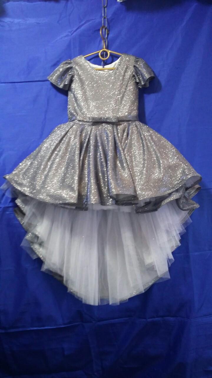 Платье со шлейфом для девочки Люрикс р. 6-7 лет опт