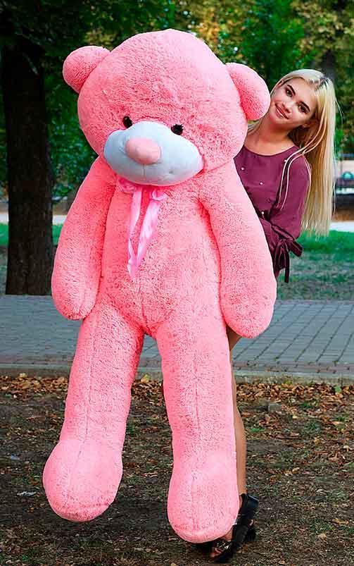 Плюшевый Мишка 180см. Большой Мишка Ромео игрушка Плюшевый медведь Мягкие мишки игрушки Ведмедик (Розовый)