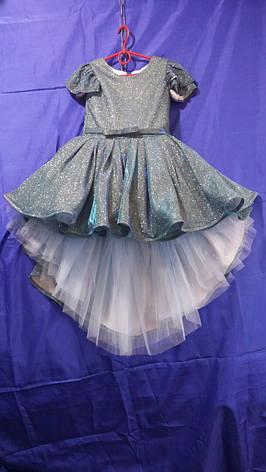Сукня зі шлейфом для дівчинки Люрикс р. 6-7 років опт, фото 2