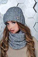 Женский комплект шапки и шарф Манго, фото 1