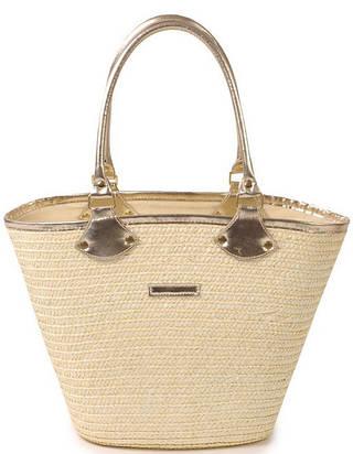 Вместительная летняя сумка-корзина Podium 6925 white, белый