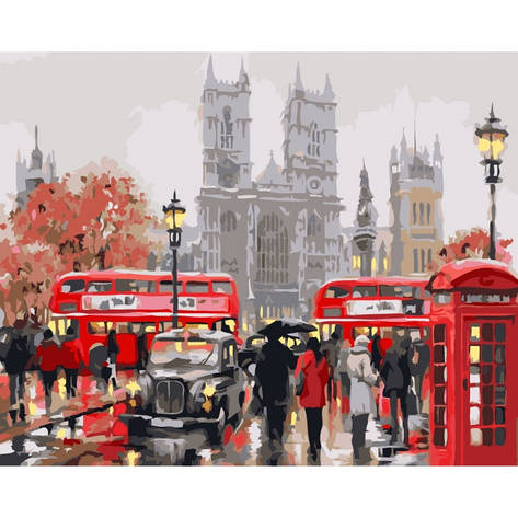 Картина по номерам Утро в Лондоне КНО2149 40x50см Идейка, фото 2