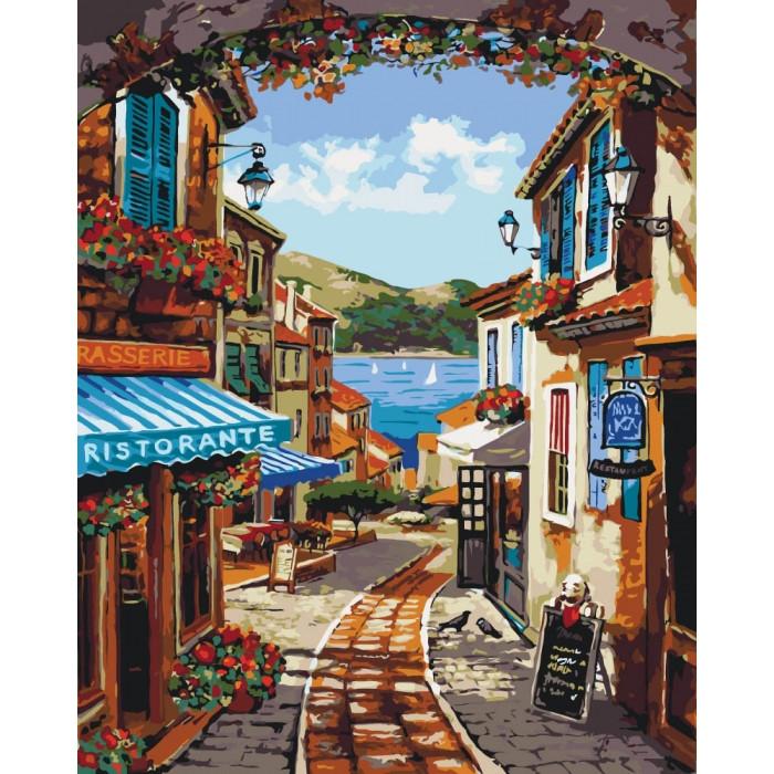 Картина по номерам Волшебные улочки КНО2174 40x50см Идейка