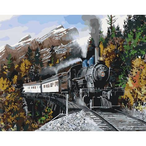 Картина по номерам Скорый поезд  КНО2511 40x50см Идейка, фото 2