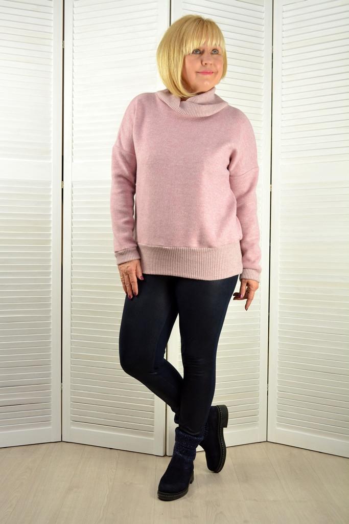 Свитшот розовый ангора - Модель Л628эр (50,52 размеры )
