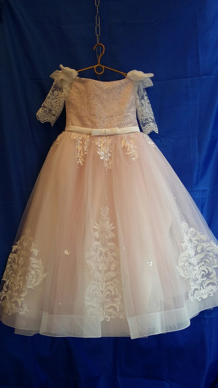 Подростковое нарядное платье для девочки р.9-10 лет опт
