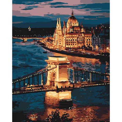 Картина по номерам Волшебный Будапешт КНО3557 40x50см Идейка, фото 2