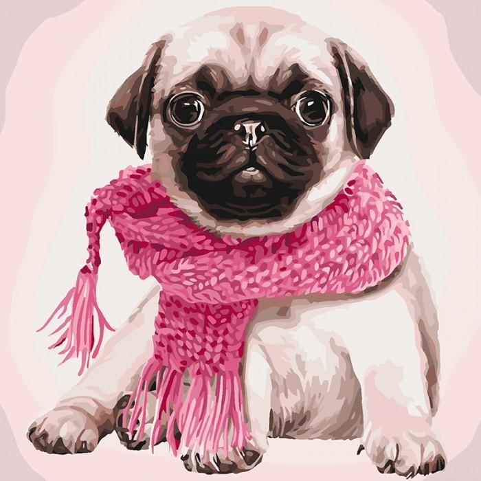 Картина по номерам Розовое настроение КНО4107 40x40см Идейка