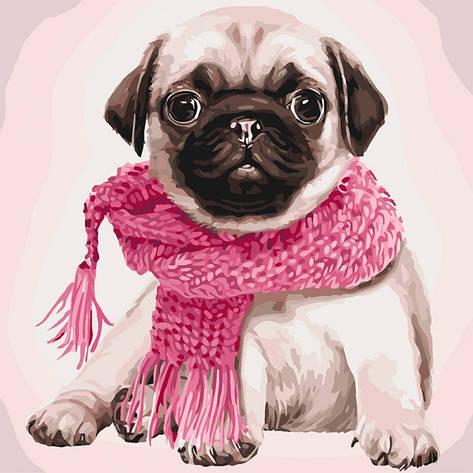 Картина по номерам Розовое настроение КНО4107 40x40см Идейка, фото 2