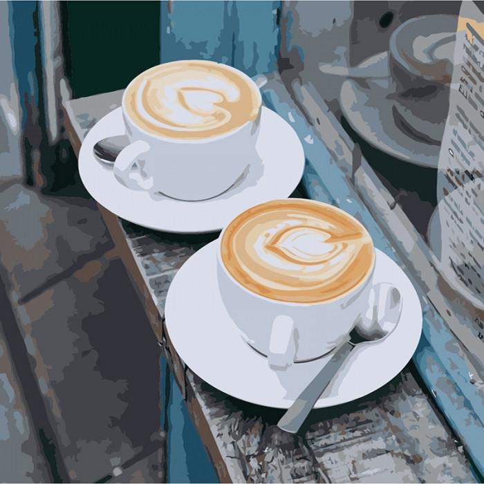 Картина по номерам Утренний аромат любви КНО5537 40x40см Идейка