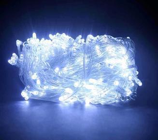 Гирлянда новогодняя Нить 300 LED белая, прозрачный провод 20 м