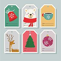 Новорічні Бірки для декору подарунків Бирки Новогодние с надписью Кому_Від_