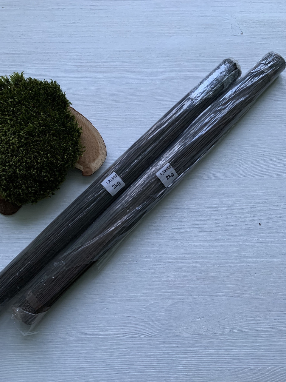 Проволока флористическая черная 1,2 мм., 50 см.